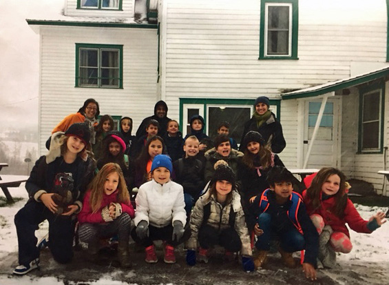 ELaine and Shelby's third grade class on their recent farm trip